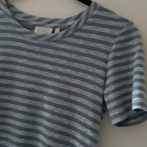 LOGO Contrasting Striped Knit Pocket Front Tunic
